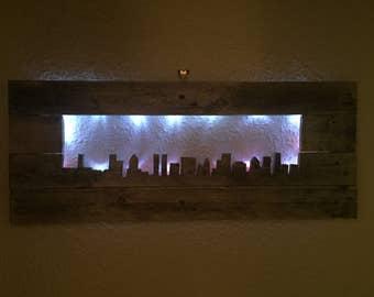 Backlit skyline