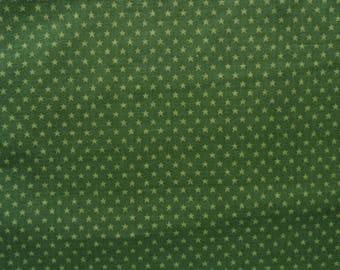 "Stars Fabric, Green Stars Fabric, VIP Cranston Fabric,  Sold By The Yard, 36"" x 42"", Cotton"
