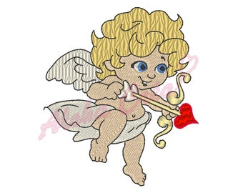 Machine Embroidery Designs little cute cupid - Instant Digital Download