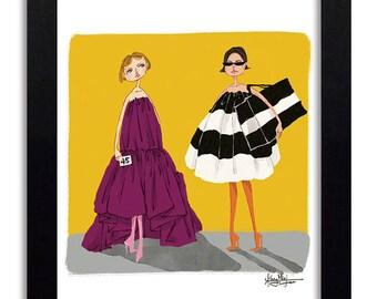 Belenciaga - Fashion Illustration Print Fashion Print Fashion Art Fashion Wall Art Fashion Poster Fashion Sketch Art Print