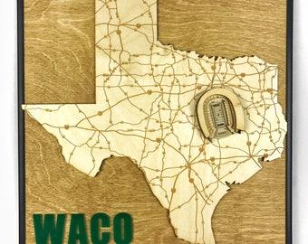 Stadium State Shape - Texas, Waco (McLane Stadium)