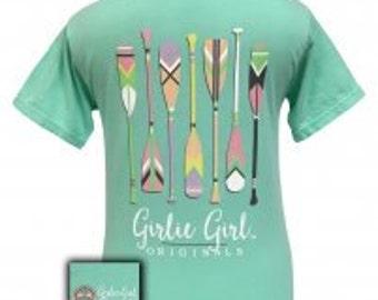 Girlie Girl Preppy Oars comefort color tee NEW
