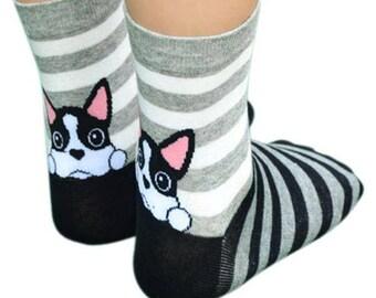 Kids Socks with pick a boo animal