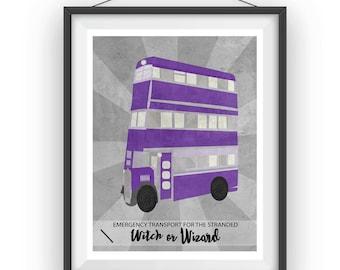 Harry Potter Knight Bus Print 11x14 8x10