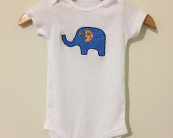 Elephant Appliquéd Onesie or T Shirt