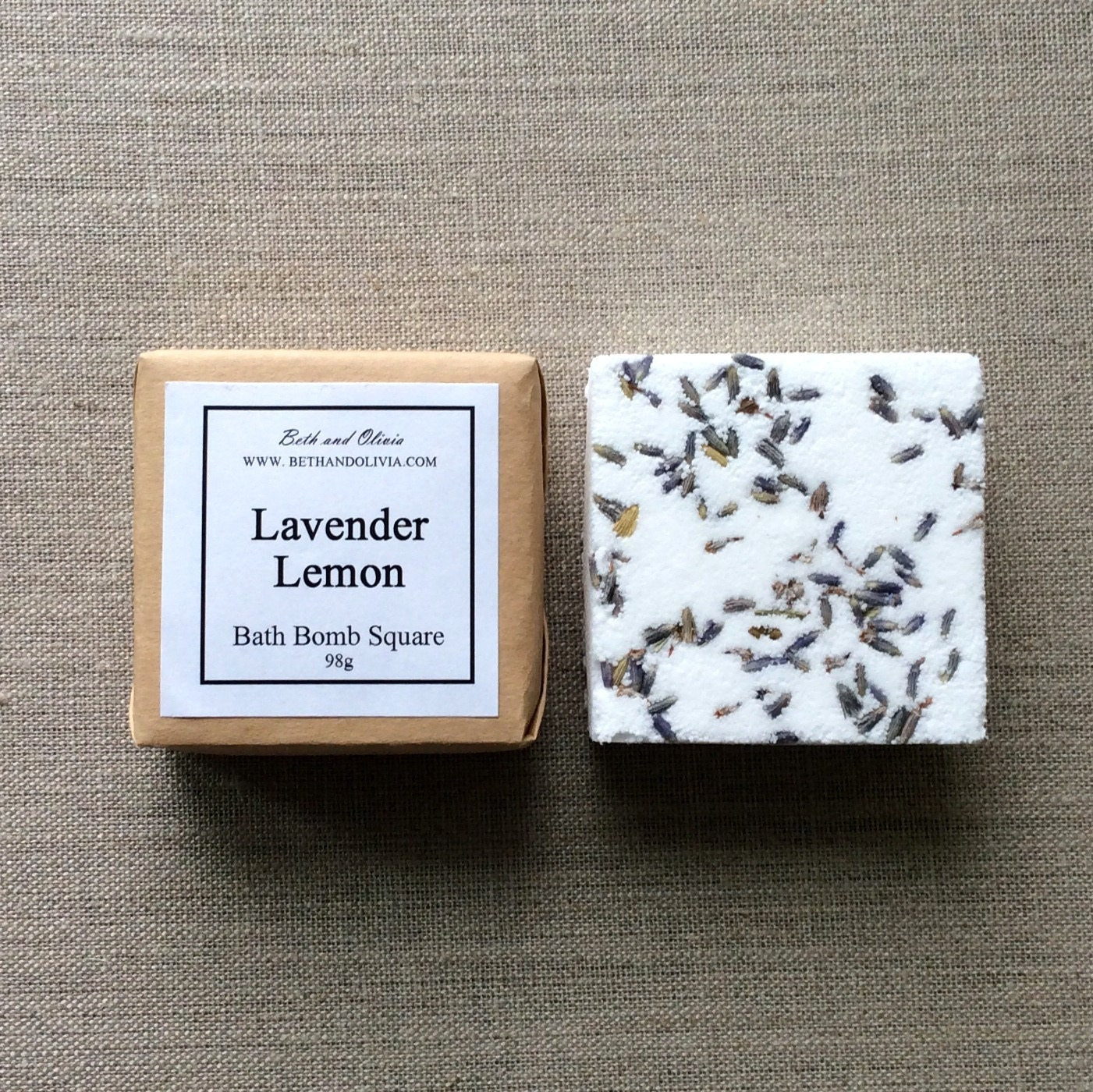 Set of 6 Lavender Lemon Bath Bombs, gifts for teens, bath bomb squares, bath bomb, bridal shower favors, lavender bath bomb, Lemon bath bomb
