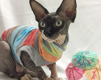 Colored TShirt, cat clothing