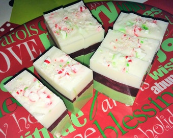 SALE Peppermint Delight Christmas Soap