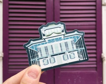 Doullut Steamboat House (New Orleans, Louisiana) Vinyl Sticker