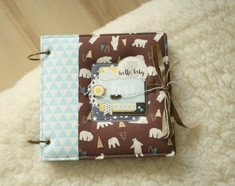 Baby boy memory book, Boy photo album, photo album