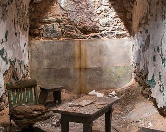 Eastern State Penitentiary - Annual Review - Photography - Fine Art - 8x12 Print matted to 11x14 - historic ruins Philadelphia