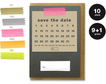 SAVE THE DATE - designer cards 10erPack