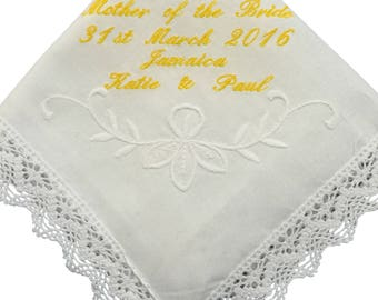 Ladies Personalised Handkerchief