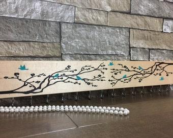 Jewelery Hanger/Hanger/wood sign/laser engaved/painted/sealed