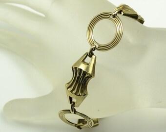 "1940s Harry Iskin Gold Filled Bracelet—7"" Long"