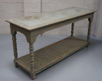 Vintage Painted & Zinc Top Drapper's Table