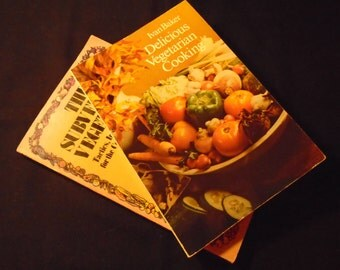 2 Vegetarian Cookbooks Delicious Vegetarian Eating and The Subversive Vegetarian Vintage Softcover Lot