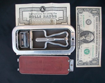 Shaving Kit//Razor Kit//Antique Razor//Safety Razor//Rolls Razor//Shaving Set//Razor Set//Razor//Found And Flogged