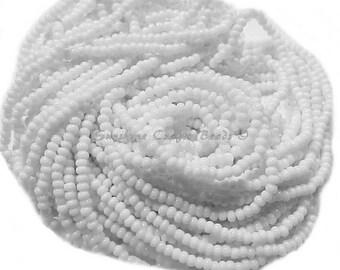 1 Hank SIZE 11/0 OPAQUE WHITE Preciosa Czech Glass Seed Beads - Approx. 3905 beads