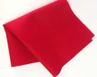 "8"" x 12"" Red Merino Wool Felt Sheet"