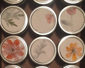 Unscented Hand Poured Soy Candles