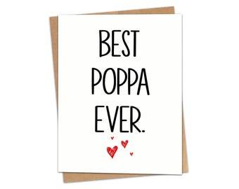Best Poppa Ever Greeting Card SKU C107