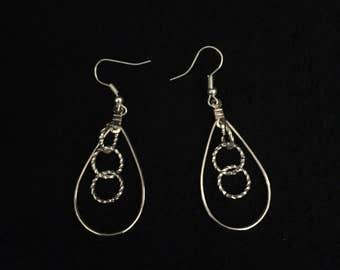 Silver Tear Drop Earrings