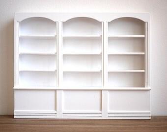 Dollhouse bookshelf dolls house multipurpose storage 1 12th scale miniature furniture