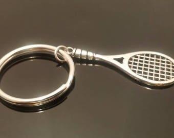 Tennis Keychain, Tennis Jewelry, Tennis Gifts, Key Chain, Tennis Racket