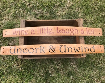 Custom Wine barrel stave quotes
