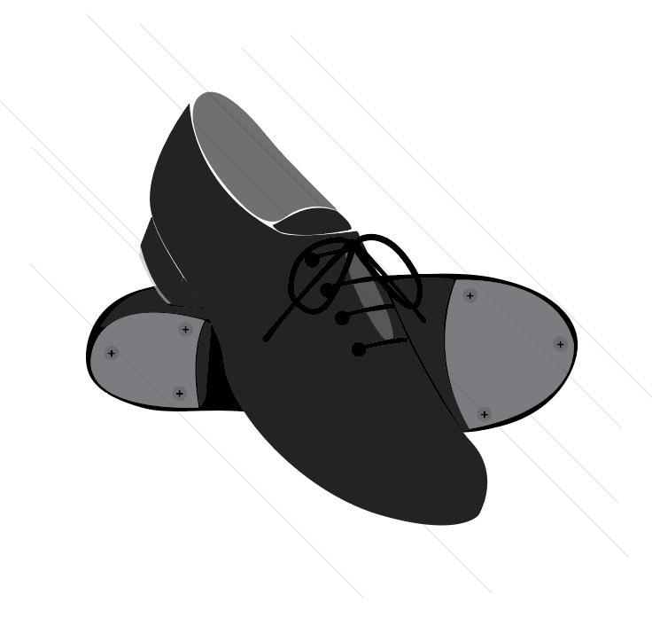 Ballet shoes silhouette black