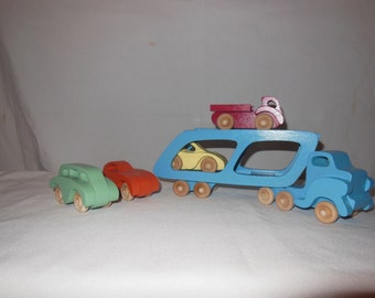 Toy car Transporter and Cars