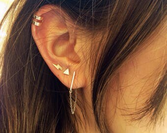 Single Ear Cuff • Gold Ear Cuff • Adjustable Ear Cuff • Ear Cuff Earring • Minimal earring