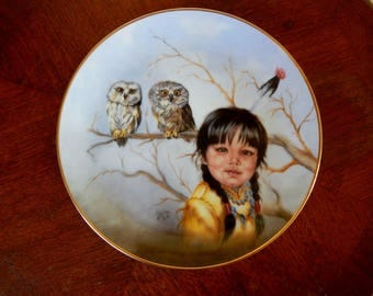 "Vintage Artaffects Collector Plate ""Fast Friends"" 8 1/2"" Plate, Proud Young Spirits Series"