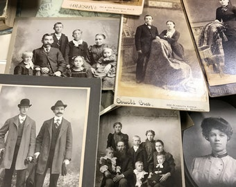 Lot of ANTIQUE PHOTOS