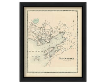 Gloucester Harbor 1872 Map