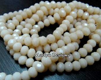 Beautiful Hydro Quartz Pink Opal 6mm Size Beads , Length 17-18 inches long , approx. 100 Beads per Strand , Rondelle Faceted- Jewelry Beads
