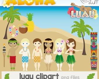 Luau clipart | Etsy