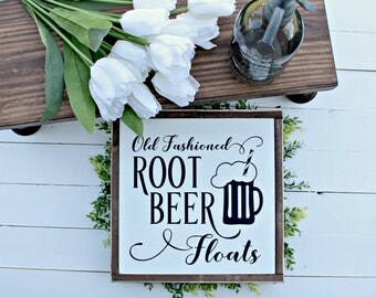Root Beer Float Wood Sign,farmhouse,farmhouse sign,home decor,farmhouse decor,modern farmhouse,Home and Living, Wall Decor,Shiplap