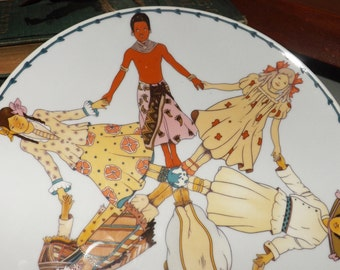 BLOWOUT! Vintage (c.1979) Heinrich Villeroy-Boch UNICEF International Year of the Child collector plate.
