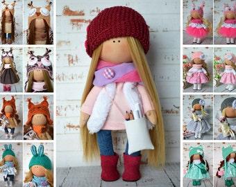 Textile doll Interior doll Rag doll Art doll Handmade doll Tilda doll Soft doll Fabric doll Cloth doll Russian doll Nursery doll by Olga S.