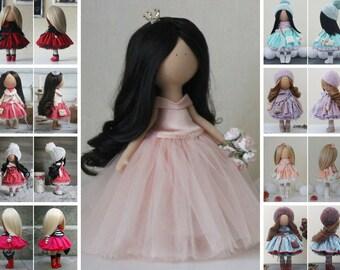 Portrait doll Beauty doll Fabric doll Tilda doll Textile doll Handmade doll Pink doll Rag doll Baby doll Unique doll Art doll by Margarita