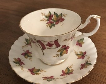 Royal Albert Canada Tea Cup and Saucer Set