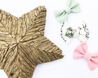 Cactus Bow Set- Cactus Headband Set- Cactus Party