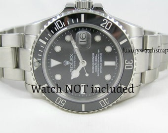 Solid stainless steel bracelet for Rolex Submariner GMT Watches 20mm - solid end links. Superb quality.