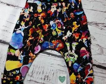 Disney Inspired Silhouette  Harem pants 6m-12m