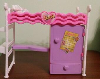 Vintage Barbie Mattel Stacie Bunk Bed Desk Set