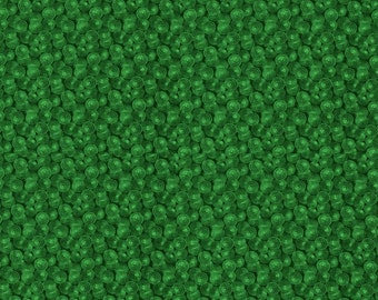 Spin Textured Circles, Green Quilting Cotton Fabric by the Yard