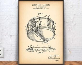 SNARE DRUM patent print, drum poster, drum blueprint, drum illustration, drum decor, music wall art, drummer, drum, band, percussion, #1086