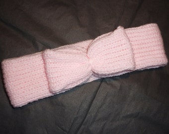 Baby Head Band, Pink Head Band, Bow Head Band